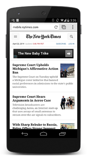 NYTimes with CSS